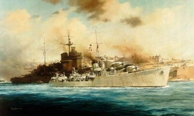H.M.S. Kelly by Robert Taylor<br> Rare Secondary Market Print<br>$1,695<br>