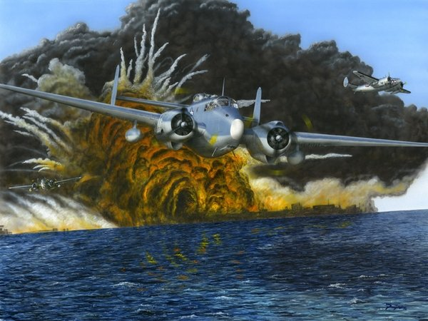 Harpooned<br>  P-V1 Ventura<br>by Don Feight