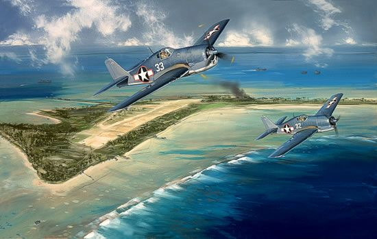 "Hellcats  Over Tarawa <b style=""color:red;font-weight: bold;"">NEW!</b>-  by Jack Felloiws"