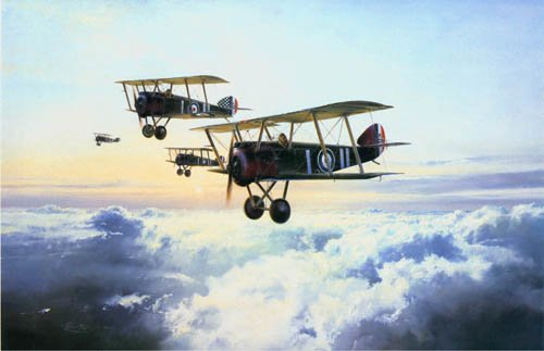 "High Patrol by Robert Taylor <br> <b style=""color:red;font-weight: bold;"">SOLD</b>   Signed by Tommy Sopwith<br>"