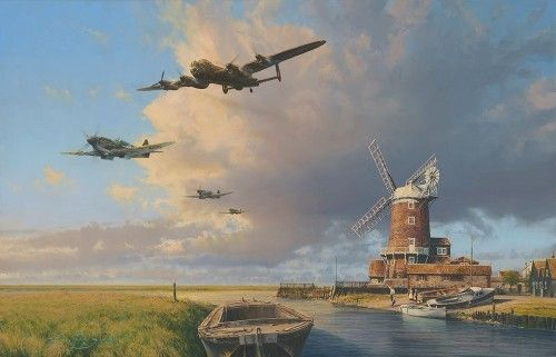 HOME AGAIN ENGLAND  Remarqes	 The remarque and double remarque editions are additionally signed by Crew Chief MSgt Dewey Christopher    NEW RELEASE </b>by ROBERT TAYLOR