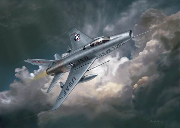 Hun In The Sun <br>  F-100 Super Sabre<br>By Don Feight