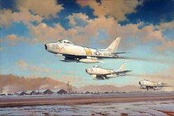 Hunting Party<br> By Robert Watts<br>4 F-86 Pilot Signagtures<br>