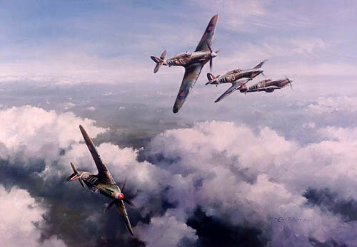 Hurricanes By Robert Taylor<br> Signed by Bob Stanford-Tuck <br>$495<br>
