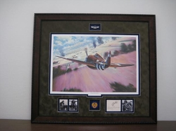In Through The Back Door<br> Framed With Gabreski Signature  $785