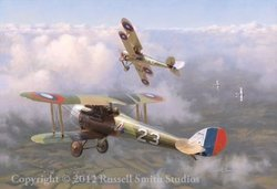 Into The Ring <br> Nieuport 28<br>By Russell Smith<br>