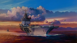 INTO THE WIND - USS ENTERPRISE by RICK HERTER>
