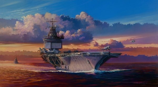 Into The Wind - USS Enterprise<br> By Rick Herter<br>