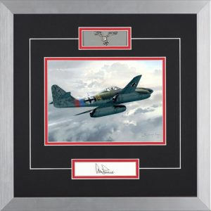 JET INTERCEPTER - ORIGINAL OIL PAINTING by DARRYL LEGG - Adolf Galland