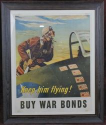 <big><big><center> �Keep Him Flying� War Bonds Poster</big></big></center>