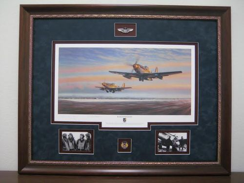 Leiston Legends by Jim Laurier<br>Chuck Yeager and Bud Anderson Signed<br> $235