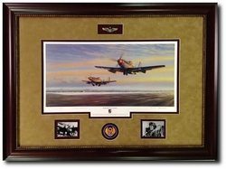 Leiston Legends -  Framed by Jim Laurier<br> Chuck Yeager and Bud Anderson signed