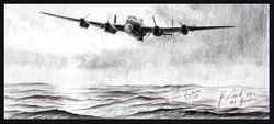 Lone Lancaster<br> NEW Original Drawing<br> By Stephen Brown
