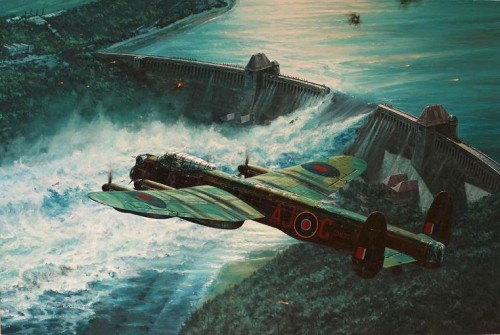 Low Pass Over the Moehne Dam<br>By Anthony Saunders<br>