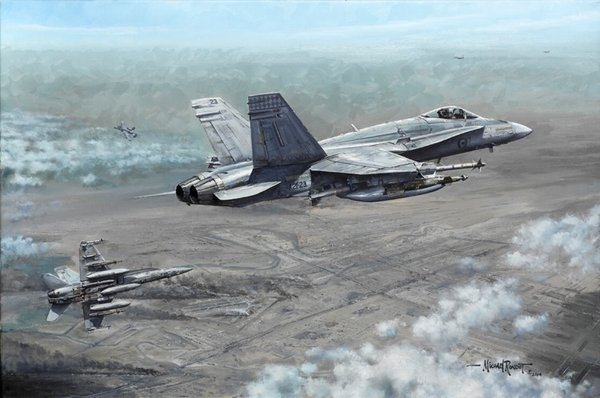 Magpies Over Baghdad by Michael Rondot