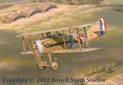 Marquis de Turenne<br>SPAD XIII<br>By Russell Smith<br>