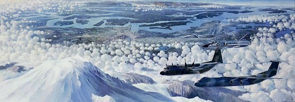 McCord Country <br> By Keith Ferris<br> C-141: F-106:F-15: T-33