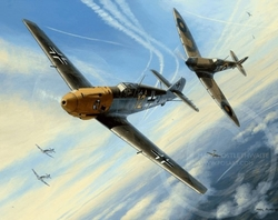 MESSERSCHMITT BF-109 by MARK POSTELTHWAITE - Veteran Signed<br> NEW RELEASE by Mark Postlethwaite<br>$125<br>