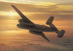 """Mission Complete<br> By Bill Phillips<br> <b style= """"color: blue; font-weight:bold,"""">    Doolittle Raid</b>"""