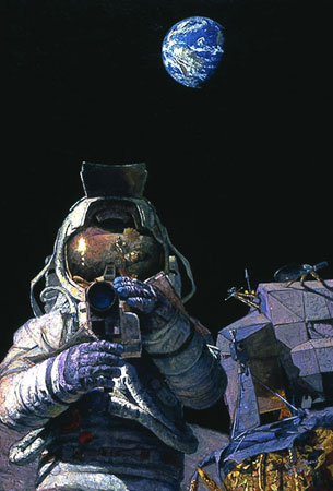 Moon Rovers by Alan Bean
