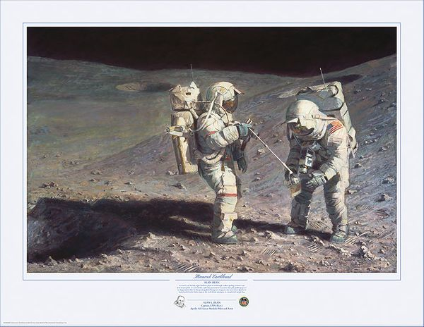 Moonrock - Earthbound <br> New Giclee Release<br> By Alan Bean