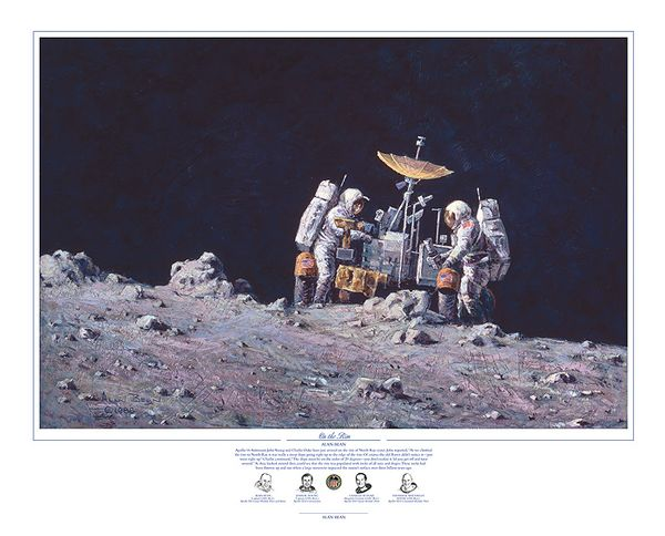 """On The Rim"" by Alan Bean"