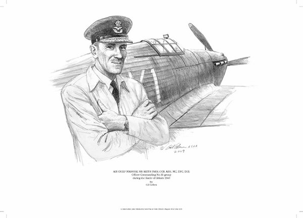 Air Chief Marshal Keith Park <br> by Gil Cohen<br>
