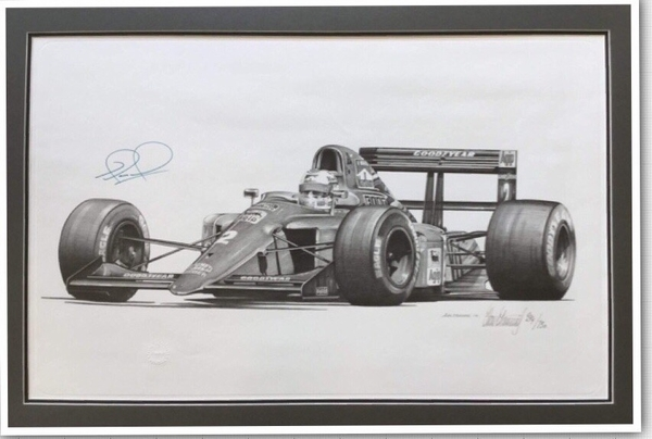 "<big><center> ""Nigel Mansell, Legends Series"" by Alan Stammers</big></center>"