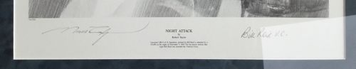 "<big><center> ""Night Attack"" by Robert Taylor<br>Bill Reid, V.C. Signed<br></big></center>"