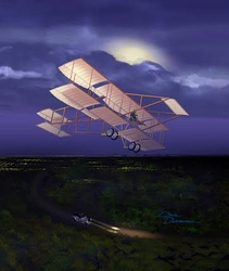 "<b> ""NIGHT FLIGHT"" by DALE DUNN<br>"