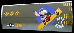 "</b><b style= ""color: red;font-weight:bold,"">   NEW  </b>  NINE-O-NINE - B-17  Nose Art Panel by GARY VELASCO"