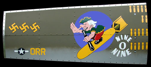 """</b><b style= """"color: red;font-weight:bold,"""">   NEW  </b>  NINE-O-NINE - B-17  Nose Art Panel by GARY VELASCO"""