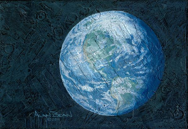"""This Beautiful Planet is Revolving Around <br>the Three of Us<br> <b style= """"color: red;font-weight:bold,"""">  NEW RELEASE  </b>by Alan Bean"""