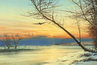 Winter Homecoming - NEW Giclee Canvas Release by Robert Taylor