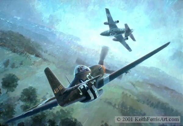 Nowotny's Final Encounter<br>  Me-262<br> P-51D<br>