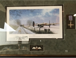 "<center><big> ""Ops On Hold"" by Richard Taylor<br> Three Lancaster Crewmember Signatures<br>Remarque<br/></center></big>"