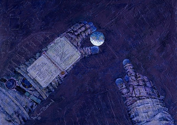 Our World at My Fingertips <br> NEW GICLEE CANVAS by ALAN BEAN<br>  $395<br>