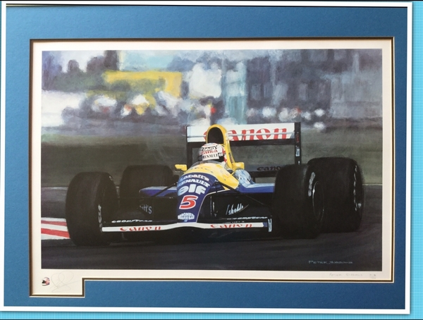 "<big><center>""Out In Front"" by Peter Sissons<br>Nigel Mansell Signed"