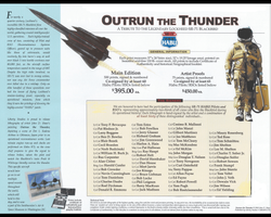 <big><center> �Outrun The Thunder� <br>by John Shaw<br>Special Edition<br>A Tribute to the SR-71