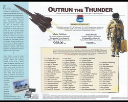 "<big><center> ""Outrun The Thunder"" <br>by John Shaw<br>Special Editioon<br>A Tribute to the SR-71"