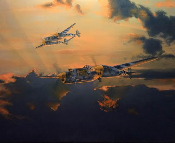 "P-38 Lightning <br> NEW GICLEE RELEASE<br> By Brian Bateman <b style=""color:red;font-weight: bold;"">ORIGINAL AVAILABLE</b>"