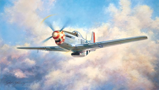 """P-51 Mustang <br> By John Young<br><b style=""""color:red;font-weight: bold;"""">ORIGINAL AVAILABLE</b>"""