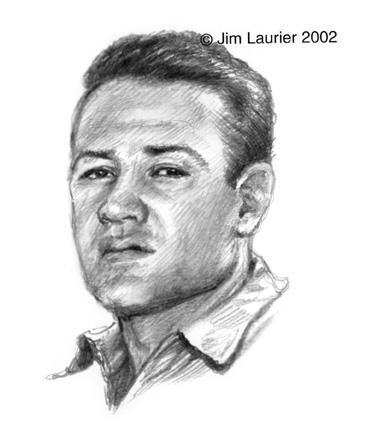 Pappy Boyington Remarque Drawing
