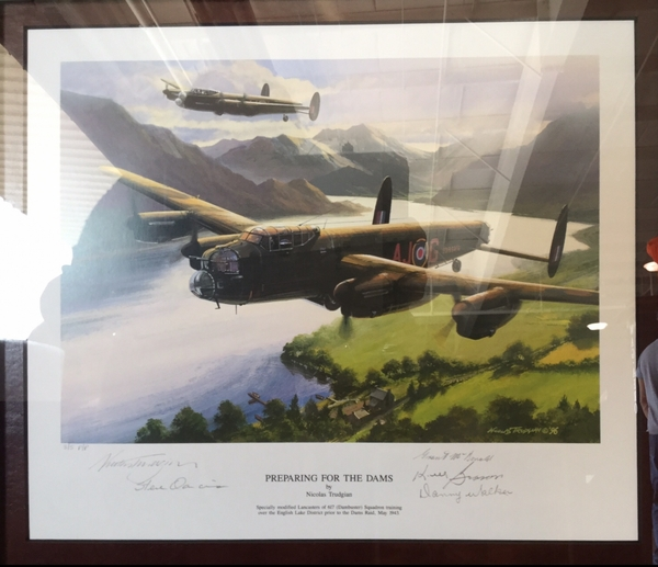 """<big><center> """"Preparing for the Dams"""" by Nicolas Trudgian<br> FOUR Dambuster Signatures<br> 3 of 5 Publisher's Proof"""