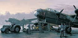 """<big><center> """"Preparing for the Tirpitz"""" by Philip West<br>Four Aircrew Signatures<br>Remarque  </center></big>"""