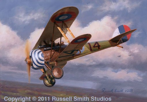 Quentin Roosevelt<br>Nieuport 28<br>By Russell Smith<br>