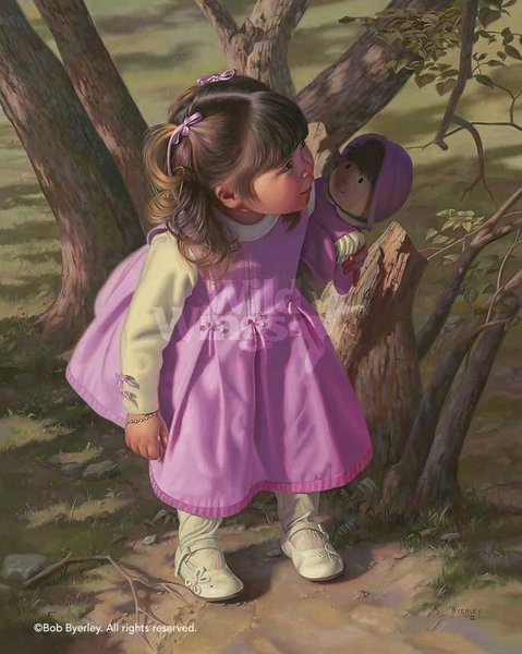 Ready Or Not <br> Little Girl Art Print<br> NEW RELEASE by Bob Byerley