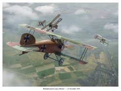 Richtofen Downs Lance Hawker <br> NEW GICLEE RELEASE by Jim Laurier