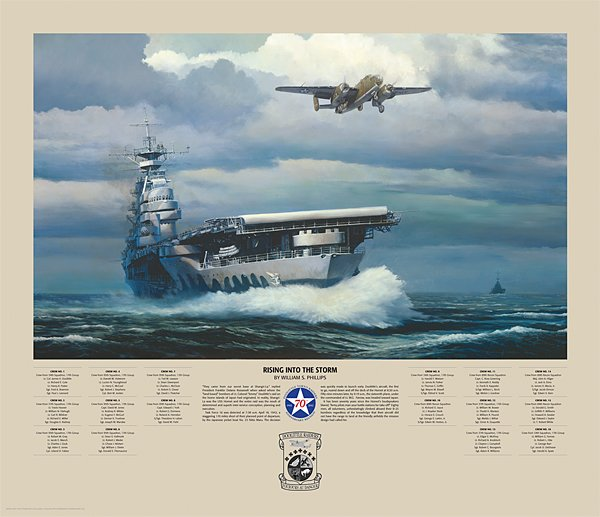 "Rising Into the Storm <br> By Bill Phillips <br><b style= ""color: blue; font-weight:bold,"">      Doolittle Raid</b>"