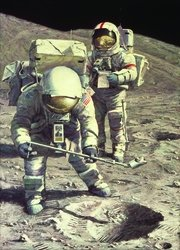 Senator Schmitt Samples Sub Surface Soil by Alan Bean